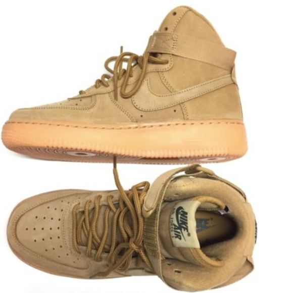 19bef15f8a6 Nike Air Force 1 High WB GS AF1 Flax 6Y